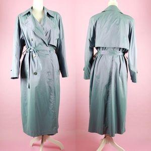 Vintage Iridescent Sea foam Green Raincoat